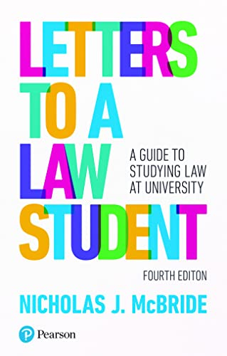 Letters to a Law Student: A guide to studying law at university from Pearson