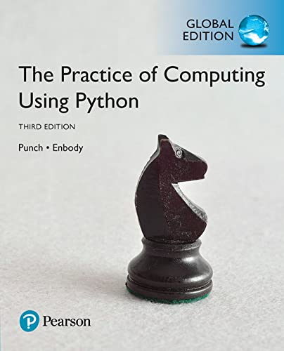 The Practice of Computing Using Python, Global Edition from Pearson