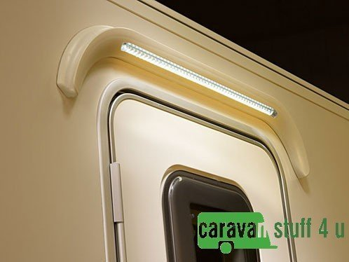 CARAVAN MOTORHOME LED OVER DOOR AWNING LIGHT & GUTTER MAGNOLIA from Pennine Leisure Supplies
