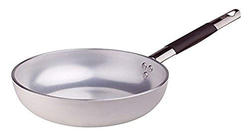 Pentole Agnelli ALMC1111BC32 Aluminium Blower Frying Pan 5 Mm. Thick with Cool Handle, Diameter 32 cm, Silver from Pentole Agnelli