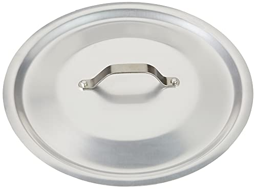Pentole Agnelli Professional Aluminium 3 Mm. Round Heavy Lid With Small Loop Handle, Diameter 28 Cm. from Pentole Agnelli