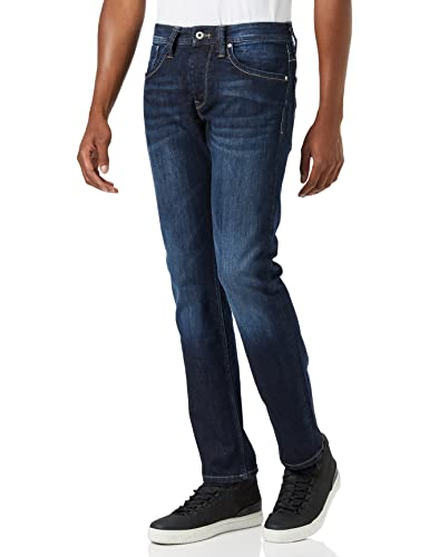 Pepe Jeans Men's CASH PM200124 Jeans Blue (Denim 11oz Streaky Stretch Dk) 36W/34L from Pepe Jeans