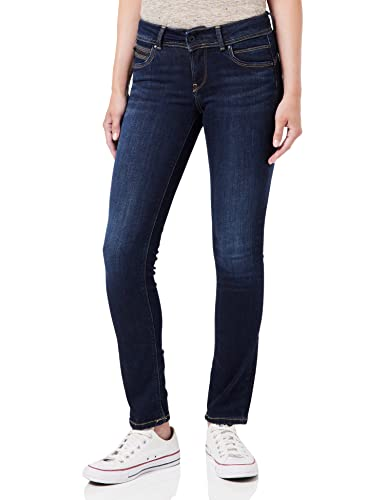 Pepe Jeans Women's New Brooke Jeans, Blue (10Oz Rinse Plus), 27W/32L from Pepe Jeans