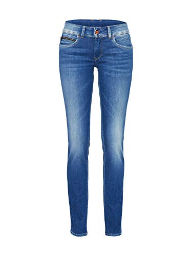 Pepe Jeans Women's New Brooke Trouser, Blue (10Oz Str 8Dip Royal Dk), 27W/34L from Pepe Jeans
