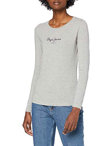 Pepe Jeans Women's New Virginia LS T-Shirt, Grey Marl, Large from Pepe Jeans