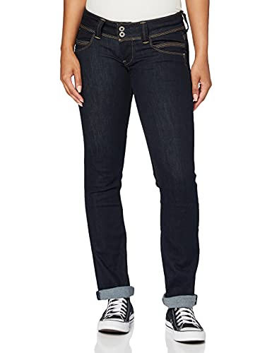 Pepe Jeans Women's Venus Jeans, Blue 10Oz Rinse Plus, 24W / 32L from Pepe Jeans