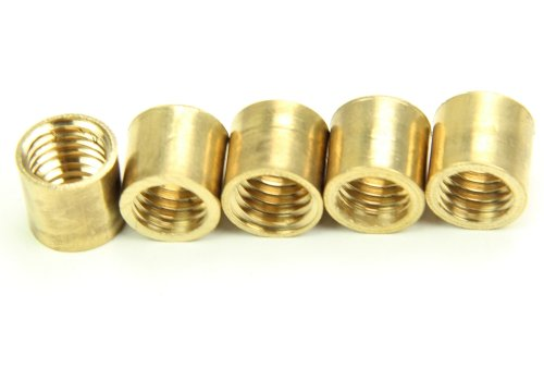 5 x Peradon POLISHED BRASS FERRULE for Snooker Pool Billiard Cue - Various Sizes! from Peradon