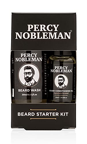 Beard Grooming Kit, A Beard Oil & Beard Wash/Shampoo Starter Kit 99% Derived From Nature By Percy Nobleman (40ml) from Percy Nobleman