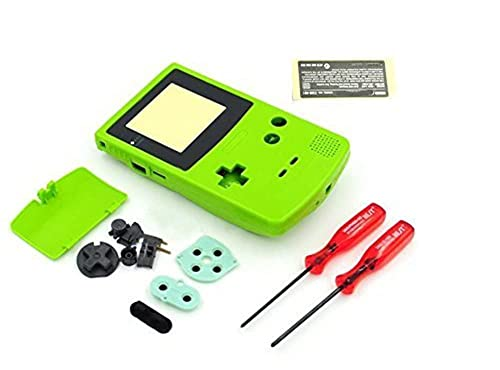 Replacement Full Housing Shell Case Cover For Nintendo Gameboy Color GBC - Lime Green from Perfect Part