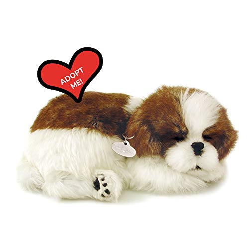 88 Unlimited 5519721 Perfect Petzzz Sleeping Shih Tzu Plush, Multicolor from 88 Unlimited