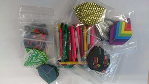 30 Assorted Standard Dart Flights + 30 Mixed Size Stems Variety of Makes AMAZING BARGAIN from PerfectDarts
