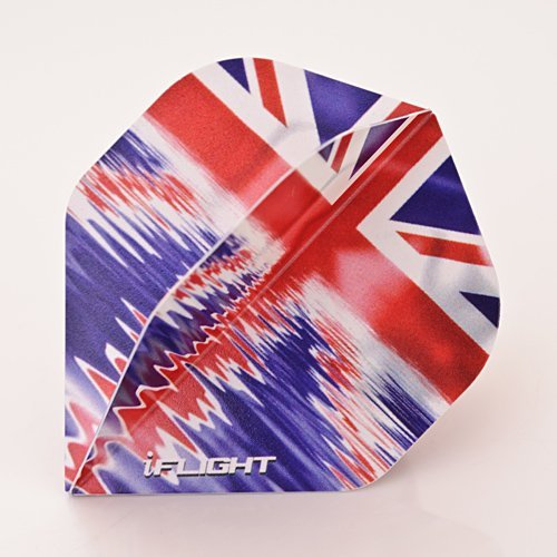 9 x RUTHLESS INVINCIBLE UNION JACK WATER DARTS FLIGHTS (3 sets)