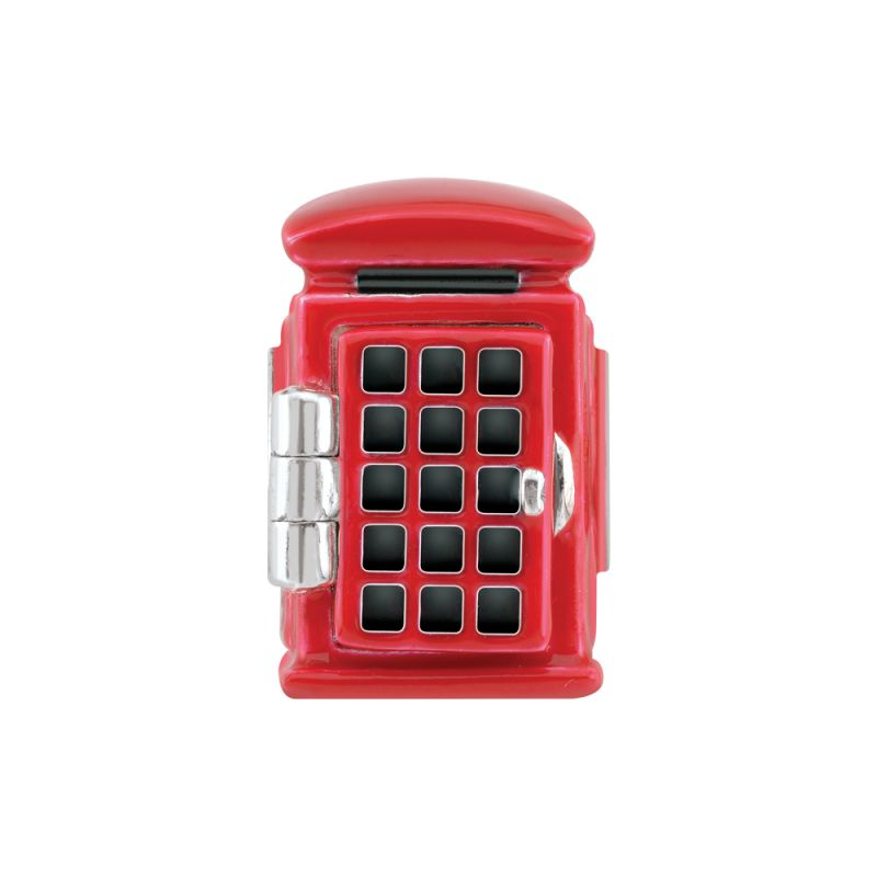 Ladies Persona Sterling Silver Phone Box Bead Charm from Persona