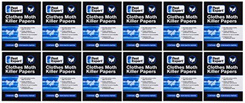 Pest Expert Clothes Moth Killer Strips x 12 packs - New to Market Advanced Formulation from Pest Expert