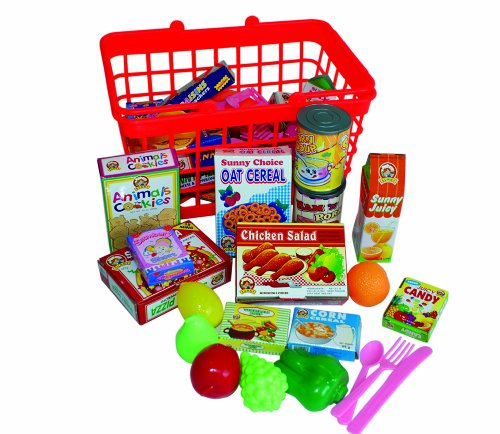 Peterkin Grocery Basket with Play Food from Peterkin