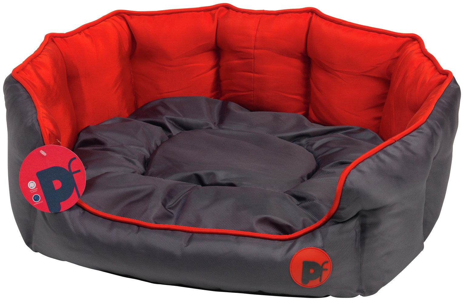 Petface Red Oxford Dog Bed - Medium from Petface