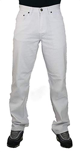 d88c7d7777e Peviani Mens g White Jeans, Comfort fit Straight fit Urban Star wash  Trousers, Pants. found at Amazon Marketplace