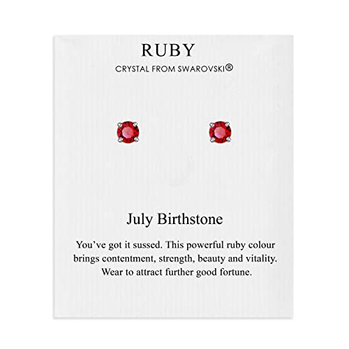 0683c9c80de8 July (Ruby) Birthstone Earrings Created with Swarovski® Crystals from  Philip Jones