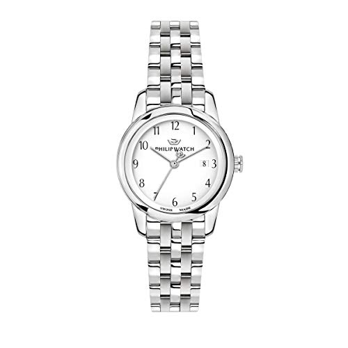Philip Watch Women's Watch, Anniversary Collection, Quartz Movement, Three Hands with Date, Stainless Steel Watch - R8253150508 from Philip Watch