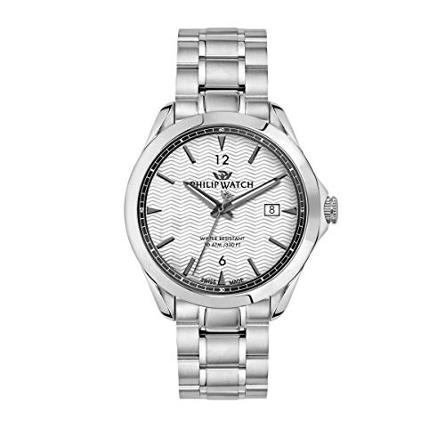 Philip Watch Men's Watch, Blaze Collection, Three Hands with Date , Made of Stainless Steel - R8253165007 from Philip Watch