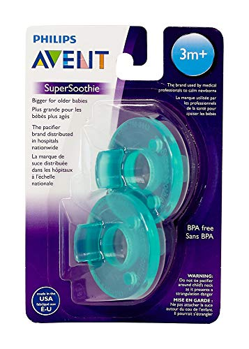 Avent Soothie Dummy Made in America Suitable from 3 Months - Green - Set of 2 from Philips