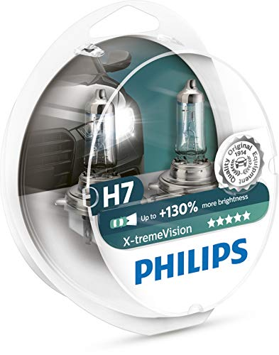 Philips 12972XV+S2 X-tremeVision Car Headlight Bulb, H7 12V, 55W Halogen, 2-Pack [Packaging type S2] from Philips