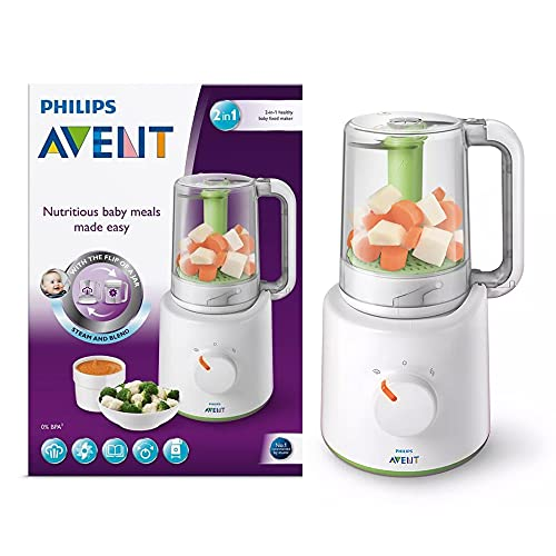 Philips AVENT Combined Baby Food Steamer and Blender, White from Philips