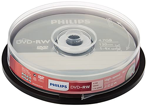 Philips DVD-RW 4.7GB Data/120 Min Video, 4x Speed Recording 10er Spindel from Philips