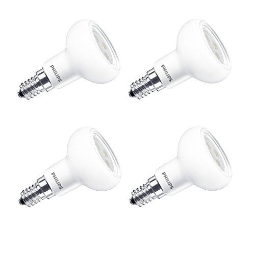 Philips LED Lustre E14 Small Edison Screw Dimmable Reflector Light Bulb, 5 W (60 W) - Warm White, Pack of 4 from Philips