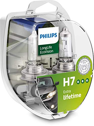 Philips LongLife EcoVision H7 12972LLECOS2 Headlight Bulb Kit with 2 Bulbs - white/clear from Philips