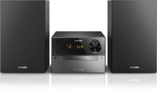 Philips BTM2310 Mini Stereo System with Bluetooth (CD, MP3, USB for Charging, UKW, 15 Watt) - Black from Philips