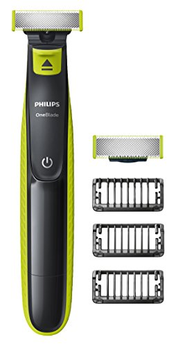 Philips OneBlade Hybrid Trimmer & Shaver with 3 x Lengths & 1 Extra Blade Amazon Exclusive (UK 2-Pin Bathroom Plug) - QP2520/30 from Philips