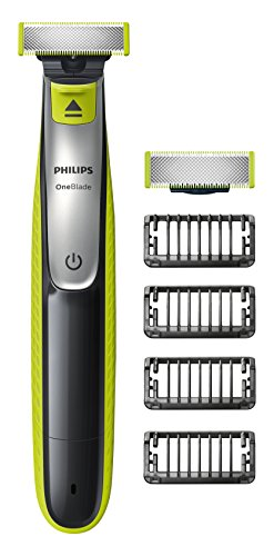 Philips OneBlade Hybrid Trimmer & Shaver with 4 x Lengths & 1 Extra Blade Amazon Exclusive (UK 2-Pin Bathroom Plug) - QP2530/30 from Philips