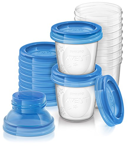 Philips SCF618/10 Avent Reusable Breast Milk Storage Cups - Pack of 10 from Philips