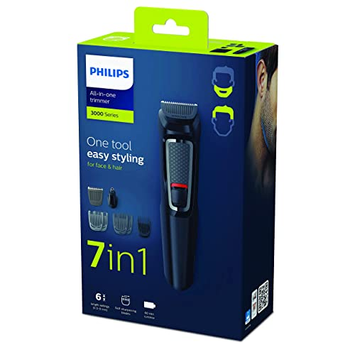 Philips Series 3000 7-in-1 Multi Grooming Kit for Beard and Hair with Nose Trimmer Attachment - MG3720/33 from Philips