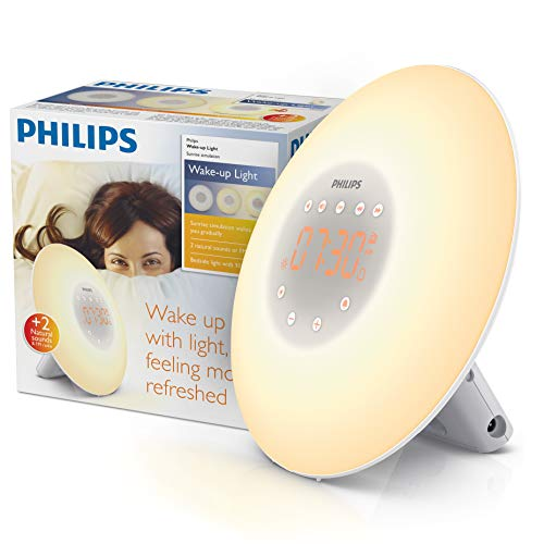 Philips Wake-Up Light Alarm Clock with Sunrise Simulation, 2 Natural Sounds and Radio - HF3505/01 from Philips