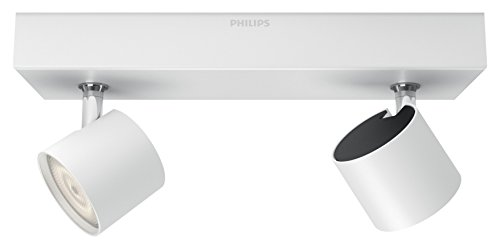 Philips myLiving Star WarmGlow Dimmable LED Spotlight, 2 x 4.5 W LED Light, Instant Start, Easy Installation - White from Philips