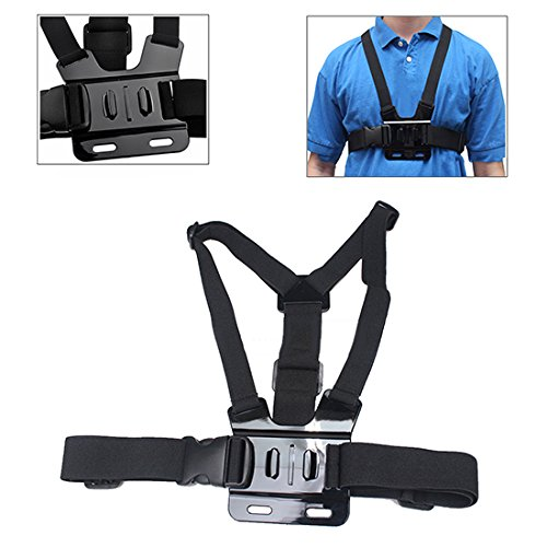 Phot-R Adjustable Elastic Body Shoulder Chest Harness Strap Belt Mount for GoPro HD Hero 4 3+ 3 2 1 from Phot-R®