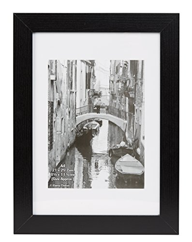Hampton Frames KENT Paperwrap Poster Photo Display Frame Plexi Black A4 (21x30cm) KENTA4NG from Hampton Frames