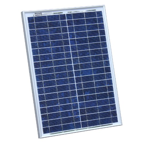 20W Photonic Universe solar panel with 2m cable for a motorhome, caravan, campervan, boat or any other 12V system (20 watt) from Photonic Universe