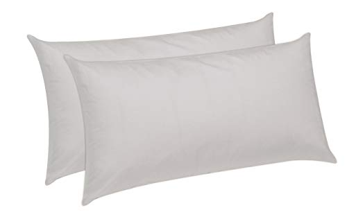 Pikolin Home - Fibre Pillow, 100% Cotton, Anti Dust Mite, Medium Hardness, white, 40 x 90 cm (Pack de 2) from Pikolin Home
