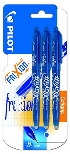 Pilot Frixion Erasable Rollerball 0.7 mm Tip - Blue, Pack of 3 from Pilot
