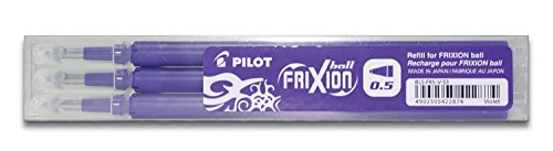 Pilot Refills for Frixion Clicker Rollerball 0.5 mm (Pack of 3) - Violet from Pilot