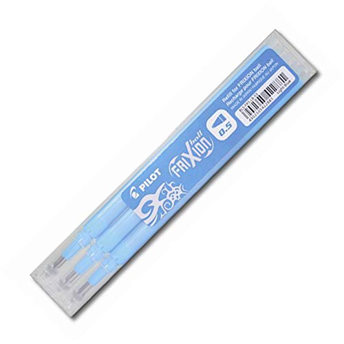 Pilot Refills for Frixion Clicker Rollerball 0.5 mm - Light Blue, Pack of 3 from Pilot