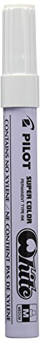 Pilot Supercolour Permanent Paint Marker Bullet 4.5 mm Tip - White, Box of 12 from Pilot