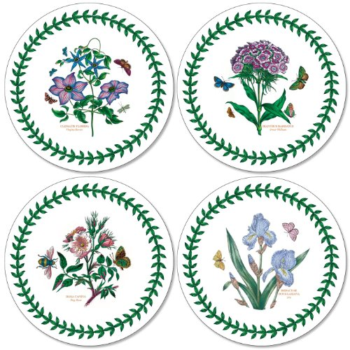 Portmeirion Home & Gifts Botanic Garden Round Coasters S/4 (m), Fabric, Multi-Coloured from Portmeirion Home & Gifts