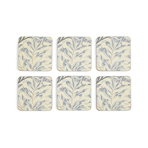 Portmeirion Home & Gifts Willow Bough Blue Coasters S/6 (s), Fabric, Multi-Coloured from Portmeirion Home & Gifts