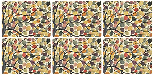 Pimpernel Dancing Branches Placemats, Set of 6 from Portmeirion Home & Gifts