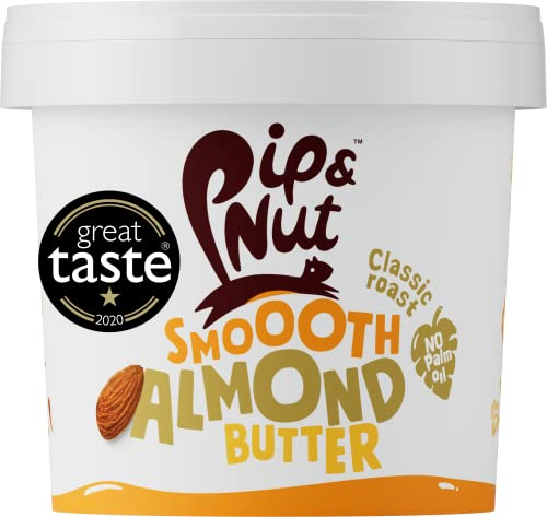Pip & Nut Smooth Almond Butter – 1kg - Absolutely No Palm Oil – No Added Sugar – Natural Source Of Protein and Healthy Fats from Pip & Nut