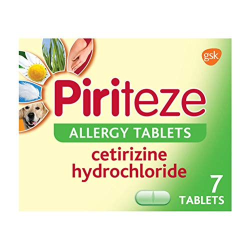 Piriteze Antihistamine Allergy Relief Tablets, Cetrizine 7s from Piriteze